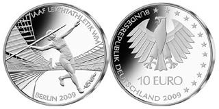 10 Euro Gedenkmünze Leichtathletik Weltmeisterschaft