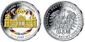 60 Jahre Deutschland Gedenkmünze