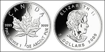 Maple Leaf Jubiläum Silbermünze