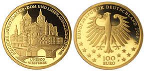 100 EURO Goldmünze 2009 Trier Denkmäler der UNESCO