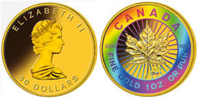 Gold Maple Leaf Jubiläums-Goldmünze