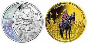 Sammlermuenze Olympische Spiele 2010 Vancouver