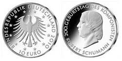 10 Euro Silber-Gedenkmünze Robert Schumann