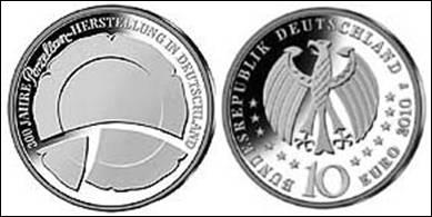 10 EUR Gedenkmünze 300 Jahre Porzellanherstellung
