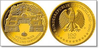 100 EUR Goldeuro 2010