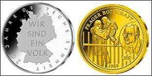 Gedenkmünze 20 Jahre Deutsche Einheit