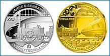 Gedenkmünze 175 Jahre Eisenbahn